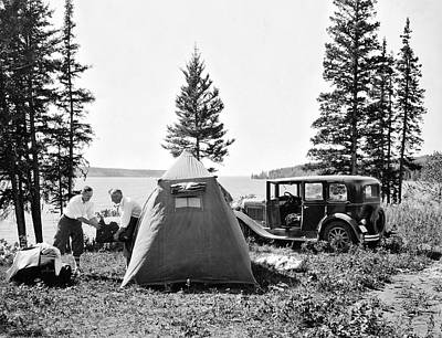 Photograph - Camping In Canada by Underwood Archives