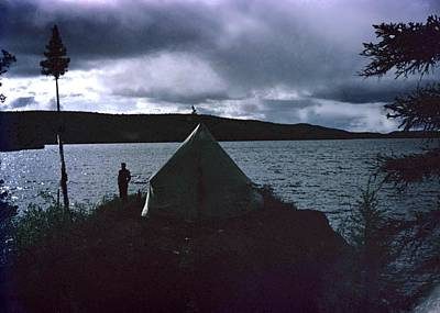Photograph - Camping In Labrador-1953 by George Cousins