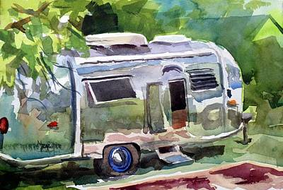 Airstream Painting - Camping In Style by Spencer Meagher
