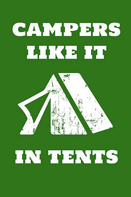 Painting - Camping In Tents by Amber Berninger