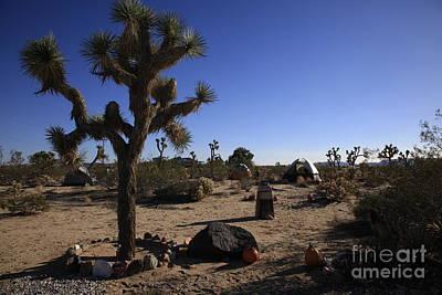 Camping In The Desert Art Print by Nina Prommer
