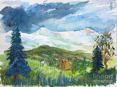 Painting - Camping In The Wasatch by Walt Brodis
