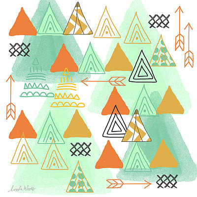 Arrow Painting - Camping by Linda Woods
