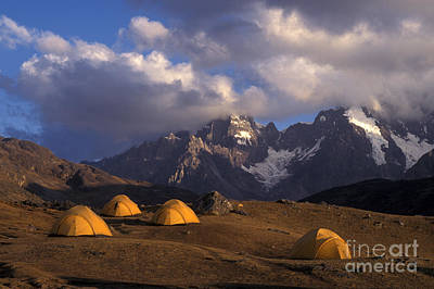 Photograph - Camping Near Auzangate Peru by Craig Lovell