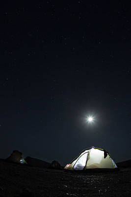 Photograph - Camping On The Beach Under The Moon And by Anna Henly