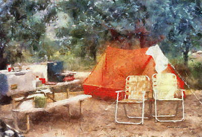 Water Jug Digital Art - Camping Photo Art by Thomas Woolworth