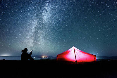 Photograph - Camping Under The Milky Way by Paul Mcgee