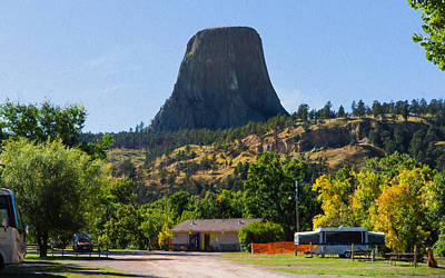 Photograph - Camping Under The Shadow Of Devils Tower by John M Bailey