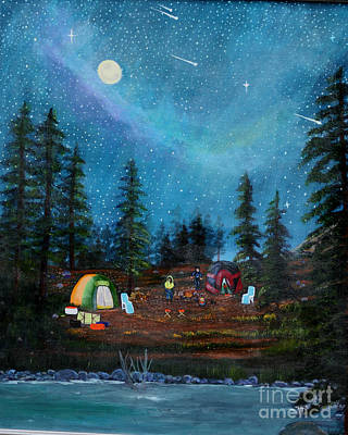 Camping Under The Stars Art Print by Myrna Walsh