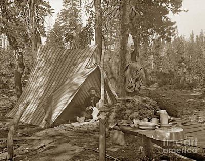 Photograph - Campinging Out In The Wild Of California Circa 1887 by California Views Mr Pat Hathaway Archives