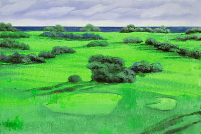 Golf Painting - Campo Da Golf by Guido Borelli
