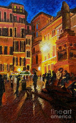 Painting - Campo Di Fiori- Italy by Fanny Diaz