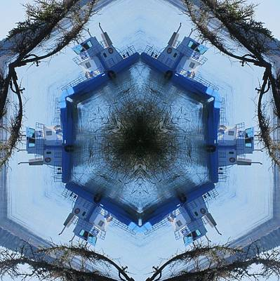 Digital Art - Campobello Island Blue Ferry by Trina Stephenson