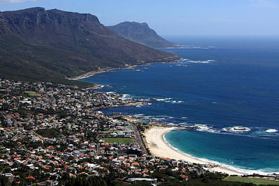 Photograph - View Of Camps Bay And Bakoven Bay by Aidan Moran
