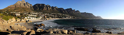 Table Mountain Photograph - Camps Bay With The Twelve Apostles by Panoramic Images