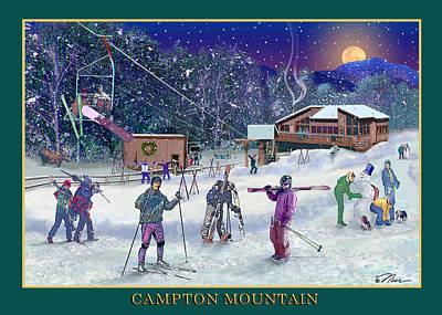 Digital Art - Campton Mountain Ski Area by Nancy Griswold