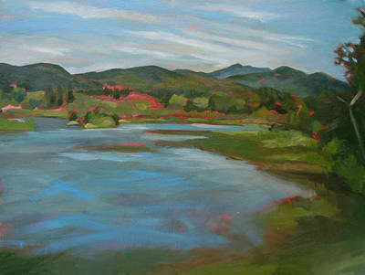 Painting - Campton Pond New Hampshire by Nancy Griswold