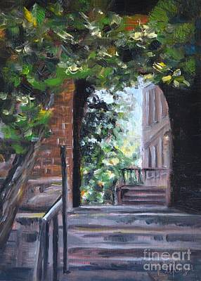 Campus Passage Original by Lori Pittenger