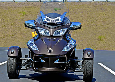 Wheeler Photograph - Can-am Spyder - The Spyder Five by Christine Till