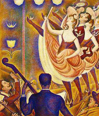 Can Can Le Chahut Art Print by Georges Seurat