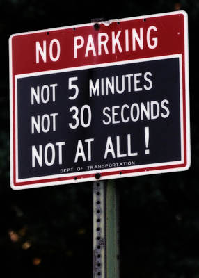 Photograph - Can I Park Here by Jim Poulos
