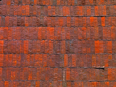Weathered Abstract Photograph - Can Wall 3 by Leland D Howard