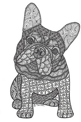 Drawing - Can We - French Bulldog by Dianne Ferrer