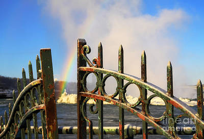 Metal Fence Photograph - Can You Lock Up Rainbow by Charline Xia