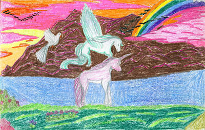Super Dog Drawing - Can You Teach Me How To Fly by Kd Neeley