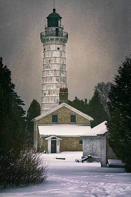 Cana Island Light II Original by Joan Carroll