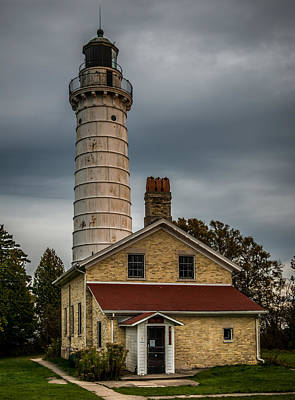 Red Roof Photograph - Cana Island Lighthouse By Paul Freidlund by Paul Freidlund