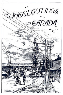 Photograph - Canada Bicycling Book Illustration 1895 by Phil Cardamone