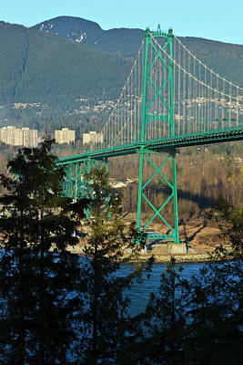 Lions Gate Bridge Photograph - Canada, British Columbia, Vancouver by Rick A Brown