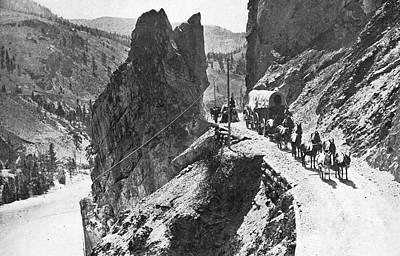 Conestoga Wagon Photograph - Canada Cariboo Road, 1868 by Granger