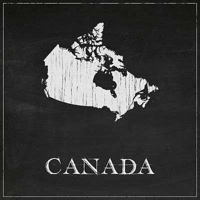 Canada Map Digital Art - Canada Chalk Map by Finlay McNevin