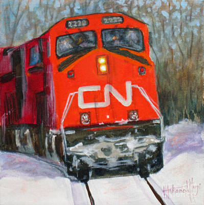 Platform Painting - Canada Coast To Coast by Mohamed Hirji