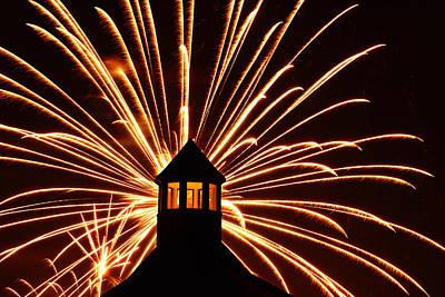 Photograph - Canada Day Fireworks by Daniel Woodrum