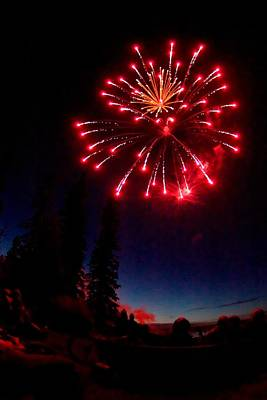 Photograph - Canada Day Fireworks by Trever Miller
