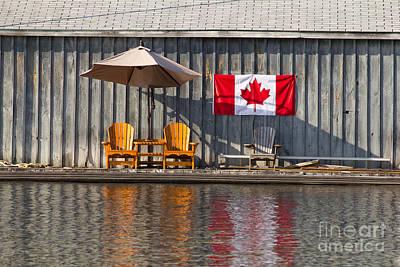 Art Print featuring the photograph Canada Day In Muskoka by Les Palenik