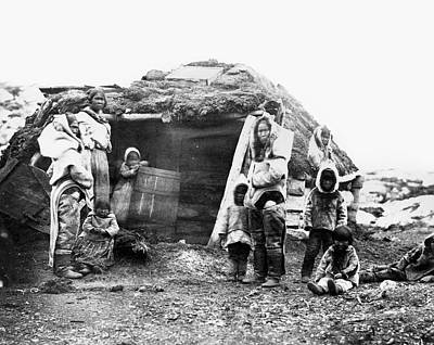 Photograph - Canada Eskimo Family, 1860 by Granger