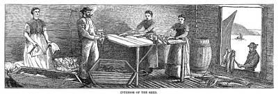 Canada Fishing, 1875 Print by Granger
