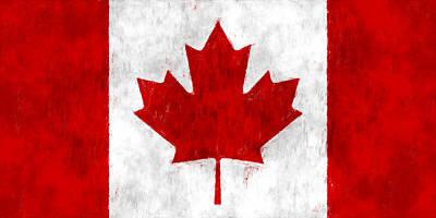 Ottawa Digital Art - Canada Flag by World Art Prints And Designs