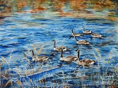 Canada Geese Original by Zaira Dzhaubaeva