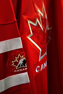 Canada Hockey Jersey Art Print by Paul Wash