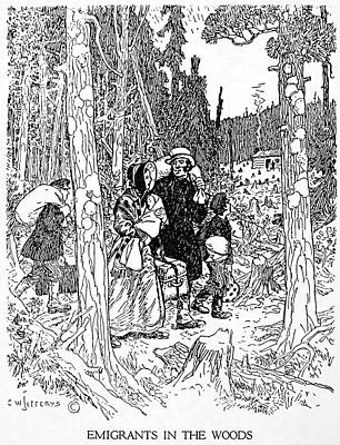 Canada Immigrants, 1830s Print by Granger