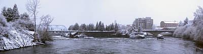 Canada Island And Spokane River Art Print by Daniel Hagerman