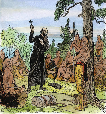 Jesus Drawing - Canada Jesuit Missionary by Granger