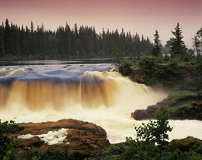 Canada, Manitoba, Pisew Falls (large Art Print by Jaynes Gallery