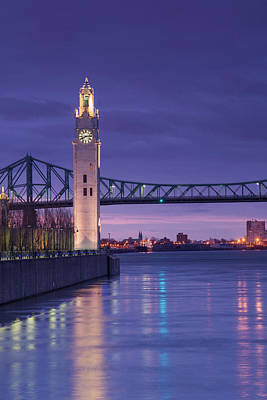 Jacques Photograph - Canada, Montreal, Old Port Clock Tower by Walter Bibikow