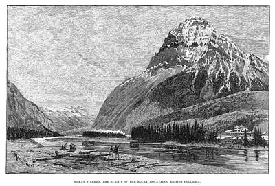 Melton Painting - Canada Mount Stephen, 1888 by Granger